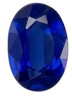 A Beautiful 5.9 x 4.3 mm Sapphire Loose Genuine Gemstone in Oval Cut, Medium Blue, 0.71 carats