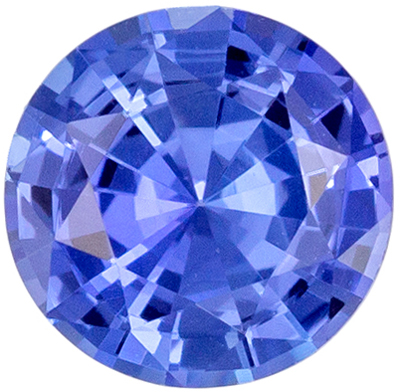 Highly Requested Blue Sapphire Loose Gem Round Cut, Vivid Cornflower Blue, 5.5 mm, 0.72 carats
