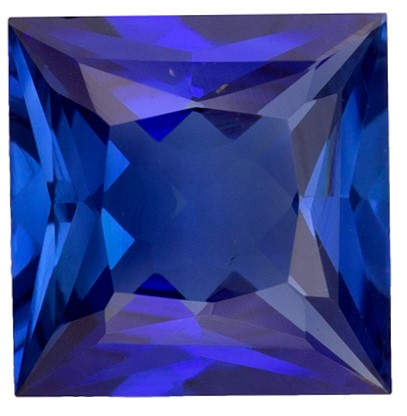 Loose Natural Blue Sapphire Faceted Gem, 0.73 carats, Princess Cut, 5.5 mm , Very High Quality Gem