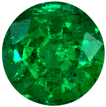 Highly Requested Emerald Natural Gem, 5.7 mm, Vivid Rich Green, Round Cut, 0.73 carats