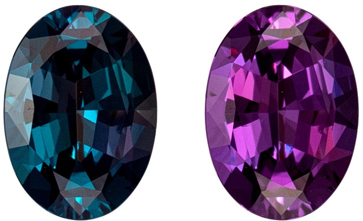 0.74 Color Change Alexandrite Oval from Brazil with GIA Cert, Very Fine Loose Gem Alexandrite