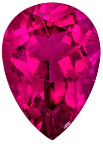 Loose Natural Rubellite Tourmaline Genuine Stone, 0.74 carats, Pear Cut, 7 x 5  mm , High Quality Gemstone