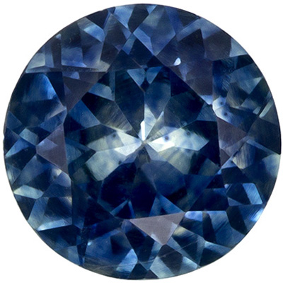 Very Pretty Blue Green Sapphire Gemstone 0.77 carats, Round Cut, Rich Teal Blue, 5.5 mm