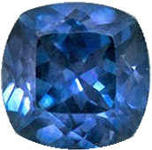 Lovely Rare Sapphire Natural Gem, 5 mm, Teal Blue Green, Cushion Cut, 0.78 carats