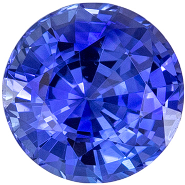Highly Requested Sapphire Genuine Gem, 0.78 carats, Vivid Rich Blue, Round Cut, 5.3 mm