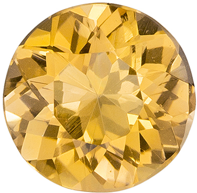 0.8 carats Precious Topaz Loose Gemstone in Round Cut, Peach Gold, 5.9 mm