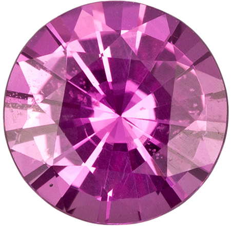 0.82 carats Pink Sapphire Loose Gemstone in Round Cut, Medium Pink, 5.9 mm