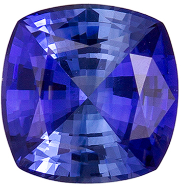 Exciting 0.83 carat Blue Sapphire Gemstone in Cushion Cut 5.5 mm