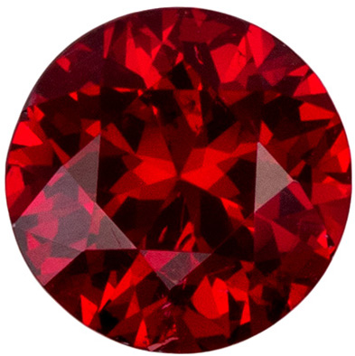 0.84 cart Round Fiery Red Spinel, Fine Rich Red Color in 6.0mm size