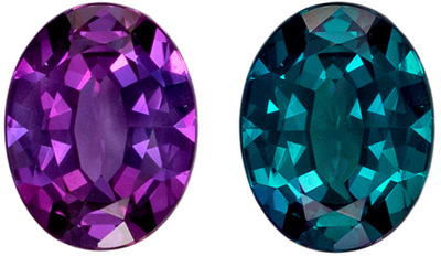 Attractive Gubelin Certified Alexandrite Natural Gem, 0.84 carats, Teal to Purple, Oval Cut, 6.99 x 5.45 x 2.95 mm