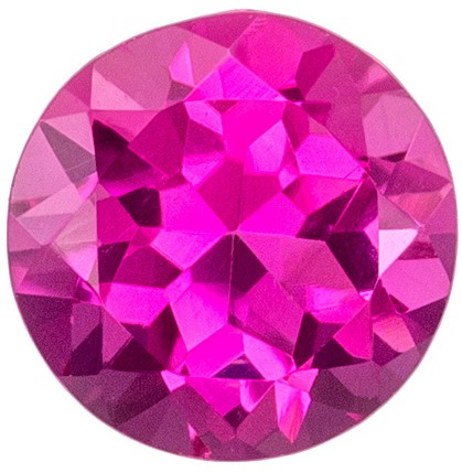 Gorgeous Pink Tourmaline 0.85 carats, Round shape gemstone, 6  mm