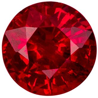 Fine Quality 0.85 carats Red Ruby Round Genuine Gemstone, 5.5 mm
