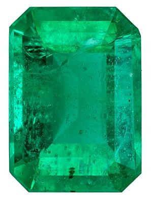 Genuine Emerald Gemstone, 0.86 carats, Emerald Cut, 6.9 x 4.9 mm, A Highly Selected Gem