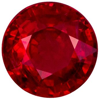 Natural Loose 0.87 carats Red Ruby Round Genuine Gemstone, 5.5 mm