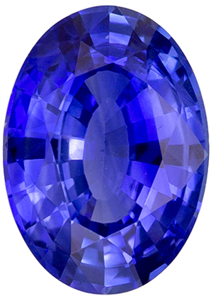 Must See 0.89 carat Blue Sapphire Gemstone in Oval Cut 7.1 x 5.1 mm
