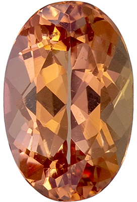 Great Price on 0.9 carat Imperial Topaz Gemstone in Oval Cut 7.3 x 4.8 mm
