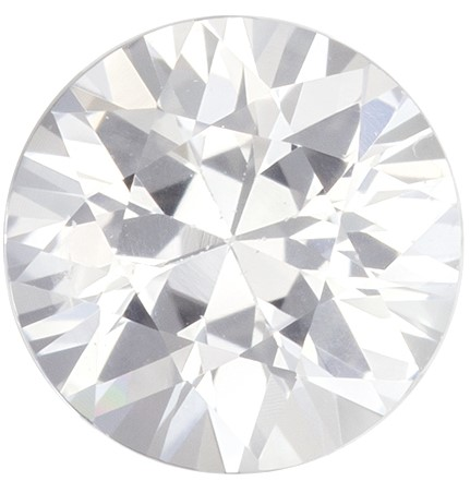 Loose Genuine White Sapphire Loose Gem, 0.9 carats, Round Cut, 5.8 mm , Super Low Price