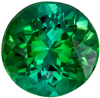 Wonderful Tourmaline Quality Gem, 6.2 mm, Minty Blue Green, Round Cut, 0.91 carats