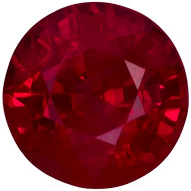 0.92 carats Beautiful Loose Ruby Gem, Awesome Fine Rich Pure Red Color, 5.6 mm Round