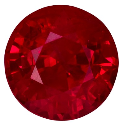 0.92 carats Ruby Loose Gemstone in Round Cut, Vivid Red, 5.6 mm