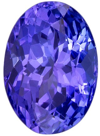 0.92 carats Tanzanite Loose Gemstone in Oval Cut, Blue Purple Color, 6.8 x 5 mm