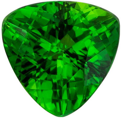 Must See 0.92 carats Chrome Tourmaline Trillion Genuine Gemstone, 6.4 mm