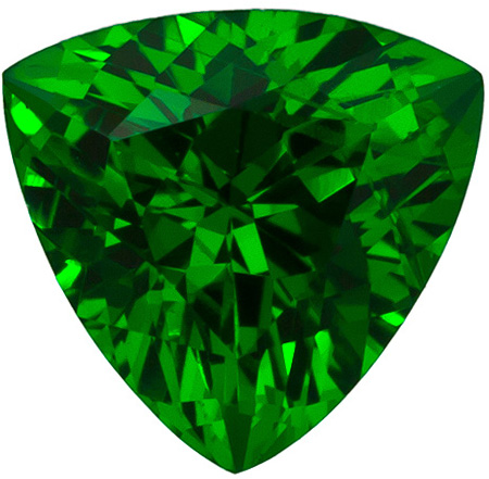 0.93 carats Tsavorite Loose Gemstone in Trillion Cut, Medium Grass Green, 6.1 mm