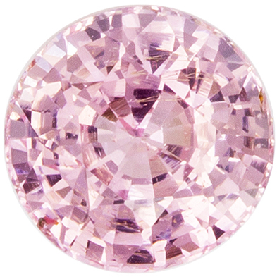 Serious Gem in GIA Certified 5.4 x 5.5mm Sapphire Loose Genuine Gemstone in Round Cut, Orangey Peach, 0.93 carats