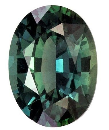 Loose Blue Green Teal Sapphire Gemstone, 0.94 carats, Oval Cut, 6.8 x 5 mm, Low Low Price