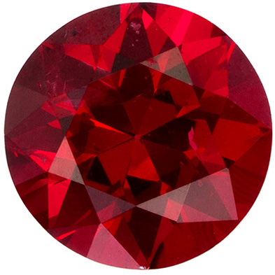 0.94 carats Stunning Red Spinel Gemstone in Rich Open Red, 6.1 mm Round Cut Gemstone