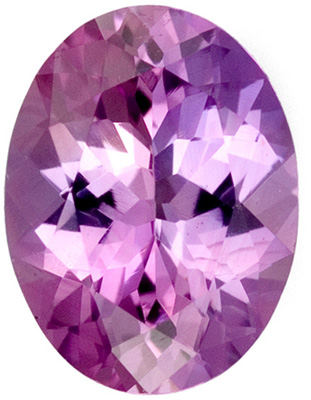 Faceted Purple Sapphire Gemstone 0.99 carats, Oval Cut, 7.2 x 5.5  mm
