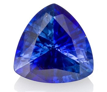 Very Special Gem 1.01 carats Sapphire Genuine Gemstone in Trillion Cut, Intense Blue, 6.2 mm