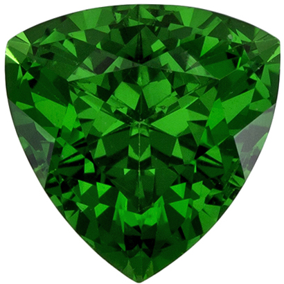 1.01 carats Tsavorite Loose Gemstone Trillion Cut, Grass Green, 6.2 mm