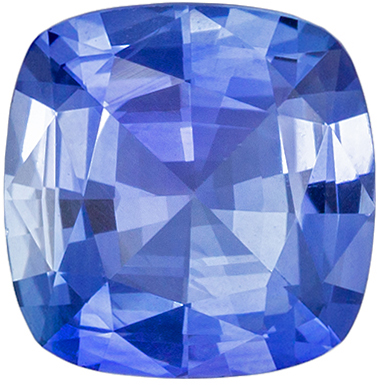 Beautiful Sapphire Quality Gem, 6.2 mm, Cornflower Blue, Cushion Cut, 1.02 carats