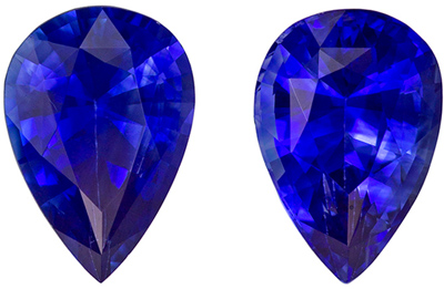 Pair of Blue Sapphire Gemstone in Intense Blue Color in 1.02 carat in 6 x 4 mm Size