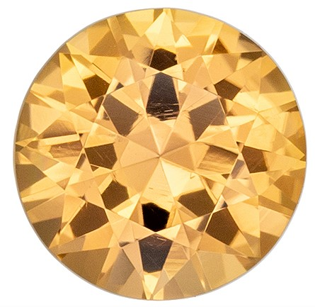 Loose Genuine Precious Topaz Gem, 1.02 carats, Round Cut, 6.3 mm , Great Low Price