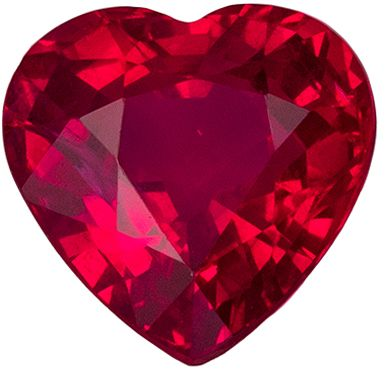 Gorgeous Ruby Quality Gem, 1.02 carats, Pigeons Blood Red, Heart Cut, 5.9 x 5.9 mm