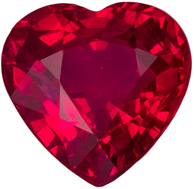 Gorgeous Ruby Quality Gem, 1.02 carats, Pigeons Blood Red, Heart Cut, 5.9 x 5.9mm