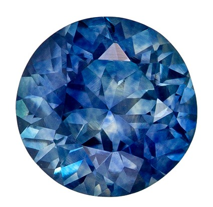 Beautiful 1.03 Carat Loose Blue Green Sapphire Round from Montana in 5.9mm Size