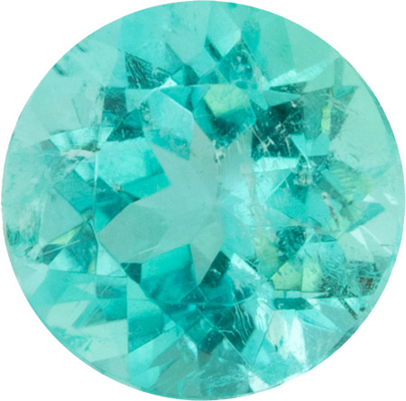 1.03 carats Blue Green Color Paraiba Tourmaline Loose Gem in Round Cut, 6.5 x 6.40 mm