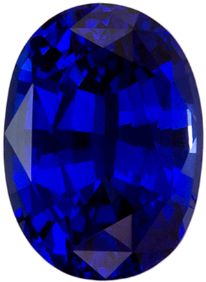 Natural Stunning1.03 carats Sapphire Genuine Gemstone in Oval Cut, Intense Blue, 6.7 x 4.8 mm