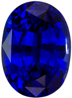 Natural Stunning 1.03 carats Sapphire Genuine Gemstone in Oval Cut, Intense Blue, 6.7 x 4.8 mm