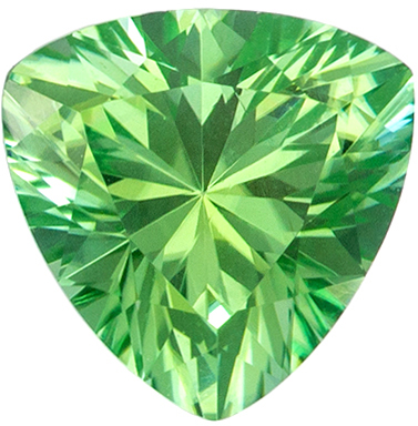 Natural Loose 1.03 carats Green Tourmaline Trillion Genuine Gemstone, 6.6 mm