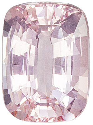 Attractive Untreated Cushion Cut Padparadscha Sapphire Gemstone, 6.64 x 4.88 x 3.23 mm, Pink Orange Peach Color, 1.03 carats, GIA Certified