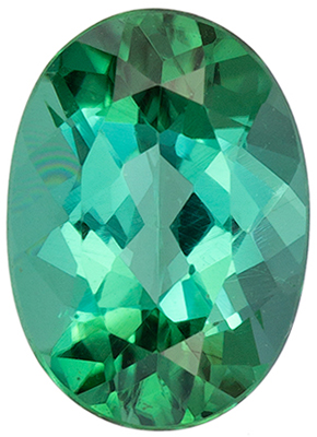 Wonderful Tourmaline Natural Gem, 1.04 carats, Minty Blue Green, Oval Cut, 7.8 x 5.6mm