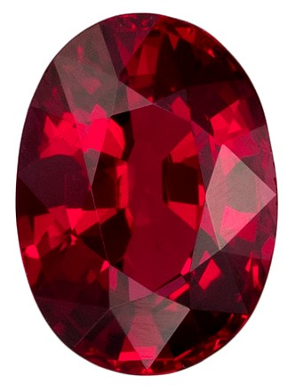 1.04 carats Ruby Loose Gemstone in Oval Cut, Rich Red, 6.9 x 5.1 mm
