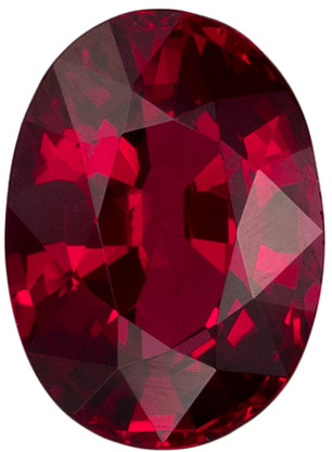 1.04 carats Ruby Loose Gemstone Oval Cut, Rich Red, 6.9 x 5.1 mm