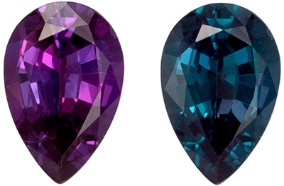 Pretty Gubelin Certified Alexandrite Genuine Gem, 1.04 carats, Teal to Purple Color Change, Pear Cut, 8.16 x 5.37 x 3.5 mm