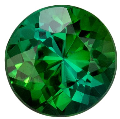 Beautiful Green Tourmaline 1.04 carats, Round shape gemstone, 6.3  mm