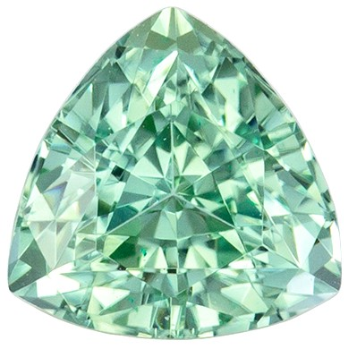 Classic Blue Green Tourmaline 1.05 carats, Trillion shape gemstone, 6.3  mm